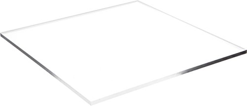 Plymor Brand Clear Acrylic Square Polished Edge Display Base.25