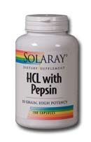 (HCl w/Pepsin High Potency 650mg Caps 250)