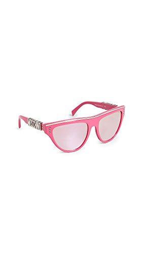 Moschino Women's Flat Top Sunglasses, Fuchsia/Multi Pink, One - Sunglasses Moschino