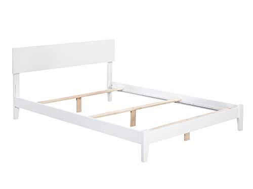 Atlantic Furniture AR8141032 Orlando Traditional Bed, Queen, White (Wood Furniture Orlando)