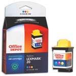 Office Depot(R) Model L20 (15M0120) Remanufactured Color Ink Cartridge