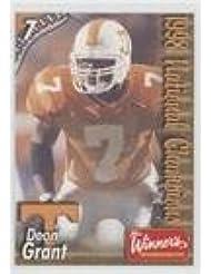 Deon Grant Football Card 1999 Tennessee Volunteers Team Issue