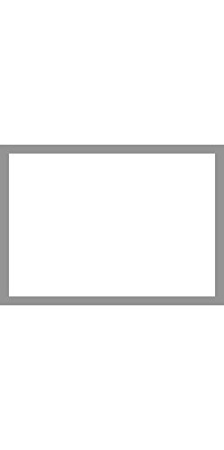 A1 Flat Notecards (3 1/2 x 4 7/8) - Smoke Gray Border Cards (1000 Qty.) by Envelopes Store