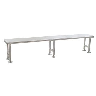 - Eagle Group CRB1272 Solid Gowning Bench, Stainless Steel Finish, 12