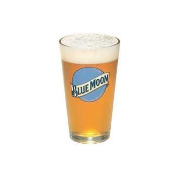 amazoncom blue moon 16 oz pilsner beer glass set of 2
