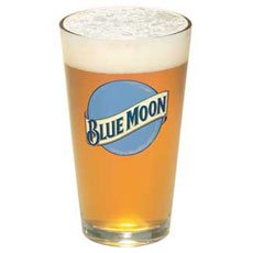 Blue Moon Beer Pint Glass | Set of 2 Glasses by Blue Moon
