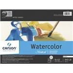 Montval Acid-Free Cold Press Watercolor Paper, 140 lb, 12 X 16 in, Natural White, Pack of 15