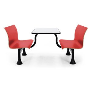 OFM Retro Cafeteria Bench / Enter Both Sides - Various Colors! (24