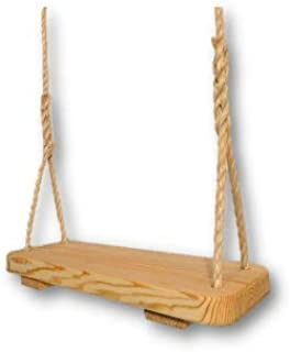 product image for Wood Tree Swings - Great Outdoor or Indoor Premier Wooden Tree Swing for Adults or Children - Ready to Hang Wooden Swing Set