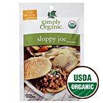 Simply Organic, Sloppy Joe Seasoning Mix, ORGANIC, Gluten-Free