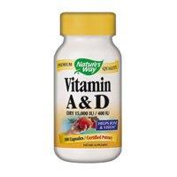 400 Iu Natures Way - Natures Way Vitamin A and D 15,000 IU/ 400 IU - 100 Capsules, 5 Pack