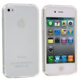Generic Plain TPU Rubber Case Cover for Apple iPhone 4/4s - Non-Retail Packaging - Clear (Rubber Iphone 4 Case)