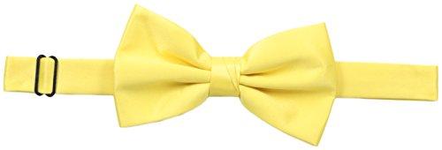 (Stacy Adams Men's Satin solid Bow Tie, Banana, One)