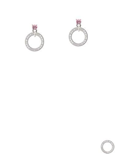 Psalm 23:1 Eternity Ring Light Pink Crystal Post Earrings