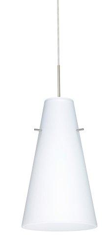 6 Led Monopoint Pendant - Besa Lighting 1JT-412407-LED-SN 1X6W GU24 Cierro LED Pendant with Opal Matte Glass, Satin Nickel Finish