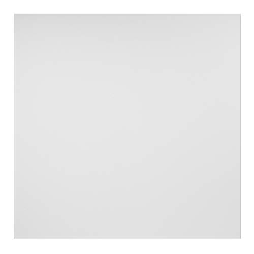 Genesis 2ft x 2ft Smooth Pro White Ceiling Tiles - Easy Drop-in Installation - Waterproof, Washable and Fire-Rated - High-Grade PVC to Prevent Breakage (One Tile)