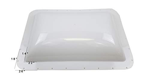 Class A Customs Premium Heavy Duty RV Camper Trailer Exterior Skylight - 18 x 26 OD / 14 x 22 ID White