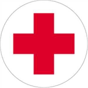 Sanitäter symbol  Aufkleber Rotkreuz Folie selbstklebend 10cm Ø (Erste Hilfe ...