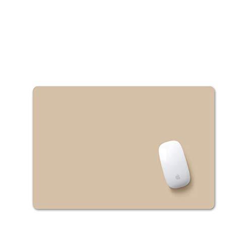 Simple Cuero Alfombrilla De Ratón,Color Sólido Almohadilla De Mesa No-resbalón Mouse Pad Resistente Al Agua Cojín De…