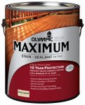 OLYMPIC/PPG ARCHITECTURAL FIN 79614A/01 Solid Color Navajo Red Maximum Deck Fence & Siding Stain (Olympic Solid Color Deck Stain)