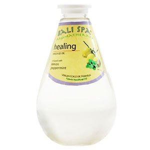 Virgin Coconut Oil Bali Spa Aromatherapy Massage Oil - Infused with Lemon, Peppermint for Healing - 17 oz (500 ml) Direct from Manila Coco Factory by Bali Spa Aromatherapy