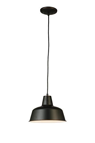 Design House 587436 Mason 1-Light Adjustable Ceiling Mount Hanging Pendant with a Farmhouse Style, Oil Rubbed Bronze