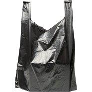 International Plastics - 15'' x 7'' x 26'' Black T-Shirt Bags 0.65 Mil - 500/Case (4 Cases)
