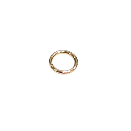 Indian Accent 1/2''Solid Golden O- Ring for Webbing Strapping Flat Cords Belting Leather craft Pack of 25