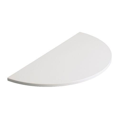 IKEA GALANT - Extensión superior de media caña con marco, blanco ...