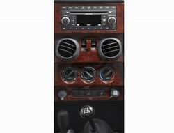 Jeep Wrangler Dash Overlay - Bestop 81702-31 TrailMax Wood Grain Overlay Kit with Power Windows