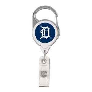 (Wincraft MLB Detroit Tigers Retractable Premium Badge Holder, Team Color, One)
