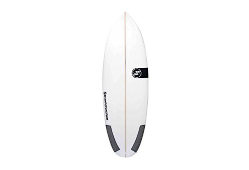 Boardworks 6'2'' Poly Mini Mod 2 Surfboard - white, one size by Boardworks