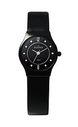 Skagen Women's 233XSCLB Ceramic Black Dial Watch