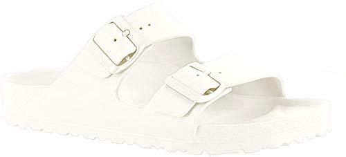 Birkenstock Unisex Arizona Essentials EVA White Sandals - 40 N EU / 9-9.5 2A(N) US