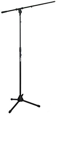 Audio2000'S AST4304B Floor Tripod Microphone Stand with Boom (Black) [並行輸入品] B077N78T8C