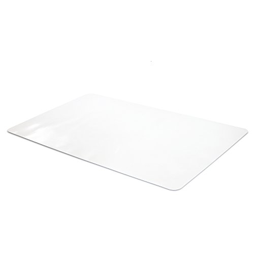 Office Desk Mat Clear Textured - 36 x 20 Inch Plastic Computer Mat for Desk
