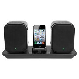 iLive Wireless Speaker Syst with 30-Pin BT Adapter, Black
