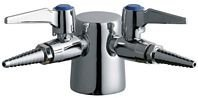 Chicago Faucets 982-DS909AGVCP Universal Double Service Turret with Two Ball Valves and Inlet Supply Shanks