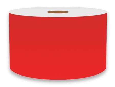 Label Tape, Red, 3in W, For Mfr No. VnM4
