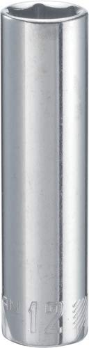 12 Drive Deep Socket - CRAFTSMAN Deep Socket, Metric, 3/8-Inch Drive, 12mm, 6-Point (CMMT44428)