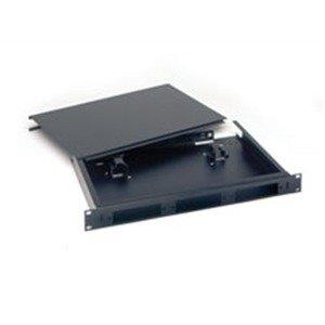 Rackmount 1 Fiber (Optical Cable - RTC1UB - Optical RTC1UB FiberOpticx RTC Series Empty Cabinet With Cover and Fiber Management; 1-Rack Unit, Rack Mount, 16 Gauge Steel, Black)