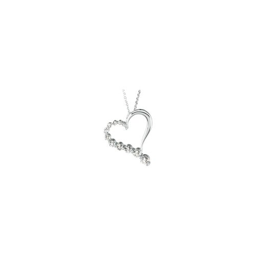 - Jewels By Lux Journey Diamond Heart Necklace