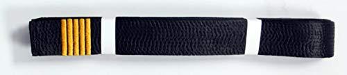 Shihan 5 DAN BAR Karate Black Belt Satin Embroidery 5 DAN BAR 320cm Length Kempo Kickboxing