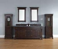 James Martin Furniture Double Cabinet Vanity, 72-Inch, Burnished Mahogany