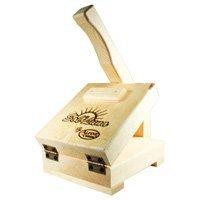 Mexican Sol Y Luna Wood 8.5 inches Manual Tortilla Maker Press by Alpi