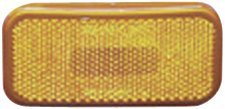 Fasteners Unlimited 003-59 12 V Amber Rectangular Clearance Light with Rounded Corners (Quantity 6) by Fasteners Unlimited