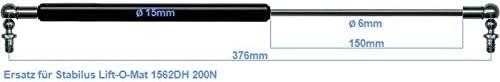 Ersatz f/ür Stabilus Lift-O-Mat 1562DH 0200N