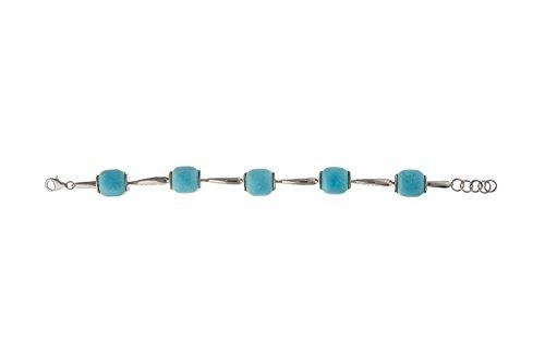 En argent sterling Bracelet Turquoise véritable