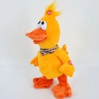 Baby Kids Stuffed Plush Toys Musical Singing Dancing Duck Small Electronic Animal Toys(Yellow)
