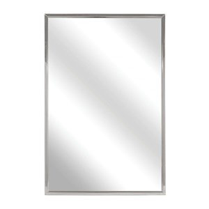bradley 781 024300 roll formed channel frame float glass mirror 24 width